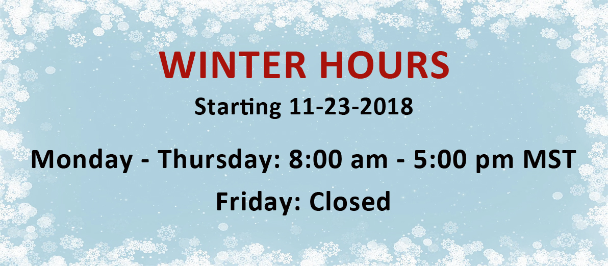 Silver State Winter Hours